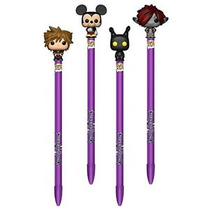 ファンコ  Funko POP Kingdom Hearts 3 ソラ ミッキー ハートレス モンスターズ Inc ソラ ペン トッパー 4パックセット|unrosage-ystore