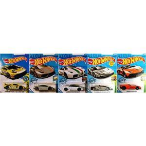 ホットウィールHot Wheels ランボルギーニ 5 カーセット Huracan Reventon...