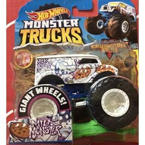 ホットウィールHot Wheels モンスタートラック ミルクモンスター 1:64 クラッシュカー付...