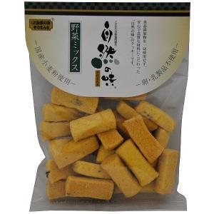 自然の味そのまんま 国産小麦粉の野菜ミックスクッキー[80g]|uocha