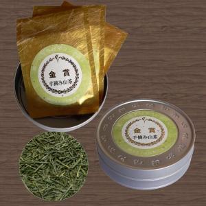 【世界緑茶コンテスト金賞】「手摘み山茶」牧野力雄作[6g×3袋・平缶入] uocha