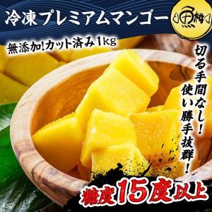プレミアムマンゴー 冷凍 1kg 無添加 ベトナム産 500g×2 カット済み フルーツ