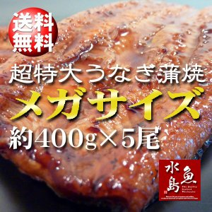 炭火焼 鰻うなぎ蒲焼き 超特大 極厚の食べ応え メガサイズ ...