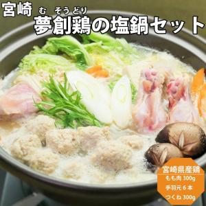 宮崎 夢創鶏 (むそうどり) の塩鍋セット 母の日 父の日 お中元 お歳暮 ギフト プレゼント uoshinn
