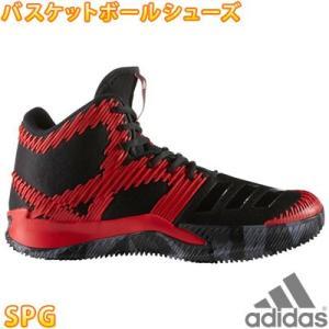 adidas SPG 黒赤 ブラック/レッド アディダス バスケットシューズ バッシュ メンズ スニーカー BB8188|up-athlete