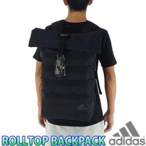 アディダス ロールトップ バックパック 黒 カバン リュックサック adidas DMC95|up-athlete