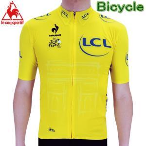 ルコック ツールドフランスレプリカ プレミアムサイクルジャージ Lecoq 自転車 QC-7434TDF|up-athlete