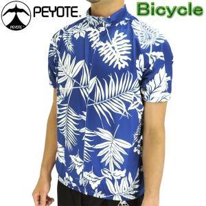 PEYOTE サイクルウェア サイクルジャージ 半袖シャツ ボタニカルプリント 自転車 PT6S-01SJ|up-athlete