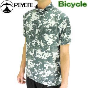 PEYOTE サイクルウェア サイクルジャージ 半袖シャツ デジタルカモ柄プリント 自転車 PT6S-04SJ ツーリング 通販 おすすめ 販売 人気ブランド|up-athlete