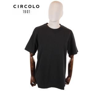 【国内正規品】CIRCOLO1901 チルコロ1901 半袖 カットソー Tシャツ 0104-256506 ブラック up-avanti