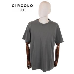 【国内正規品】CIRCOLO1901 チルコロ1901 半袖 カットソー Tシャツ 0104-256506 グレー up-avanti