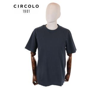 【国内正規品】CIRCOLO1901 チルコロ1901 半袖 カットソー Tシャツ 0104-256506 ネイビー up-avanti