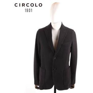 CIRCOLO 1901 チルコロ1901 2B シングルテーラードジャケット ジャージー ストレッチ 国内正規品 0204-272601 ブラック up-avanti