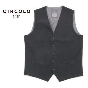 CIRCOLO1901 チルコロ1901 5B シングル ジレ ベスト ストレッチ 0204-272801 ブラック 国内正規品 up-avanti