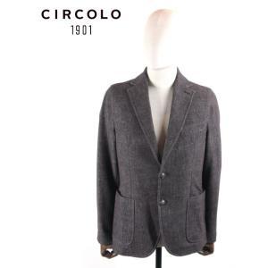 CIRCOLO 1901 チルコロ1901 2B シングルテーラードジャケット ジャージー デニムプリント 国内正規品 0204-281115 ブラック up-avanti