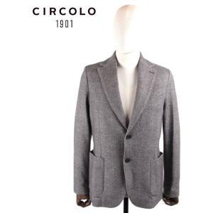 CIRCOLO 1901 チルコロ1901 2B シングルテーラードジャケット ジャージー プリント シンプル 国内正規品 0204-282218 グレー up-avanti