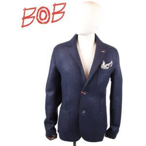 BOB COMPANY ボブカンパニー 2Bシングルテーラードジャケット ポケットチーフ付き 072-791153 NAVY ネイビー 国内正規品|up-avanti