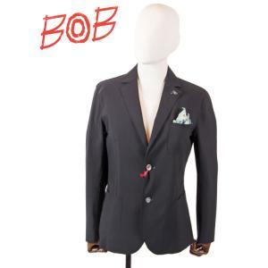 【国内正規品】 BOB COMPANY ボブカンパニー 2B シングルテーラードジャケット ナイロンストレッチ 072703130 ネイビー|up-avanti