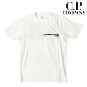 C.P.COMPANY シーピーカンパニー 半袖カットソー ロゴプリント バックプリント T-SHIRTS SHORT SLEEVE ジャージー ホワイト 国内正規品|up-avanti