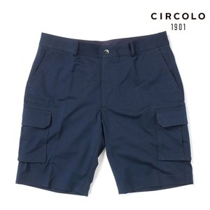 CIRCOLO 1901 チルコロ カーゴショートパンツ ジャージー 三分丈 ショーツ 1104-294903 ネイビー|up-avanti