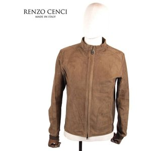 RENZO CENCI レンツォ・チェンチ スエードニットブルゾン シングルライダースジャケット 1308SUEDE/KNIT レザー LODEN ブラウン 茶色 国内正規品 up-avanti