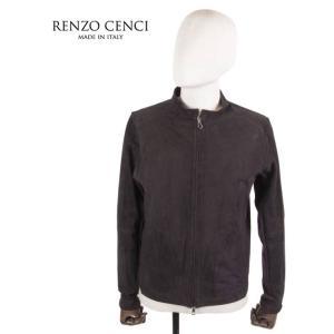RENZO CENCI レンツォ・チェンチ スエードニットブルゾン 1308SUEDE/KNIT レザー NAVY ネイビー 紺 国内正規品 up-avanti