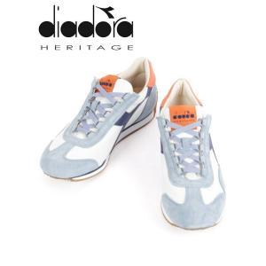 diadora HERITAGE ディアドラヘリテージ EQUIPE H CANVAS STC レザースニーカー ブルー×ホワイト×ネイビー 174735 国内正規品|up-avanti