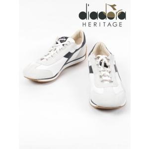 diadora HERITAGE ディアドラヘリテージ 1975刺繍 レザースニーカー ホワイト×ブラック 174735A 0351 EQUIPE H CANVAS ST(10-20%OFF) 国内正規品|up-avanti