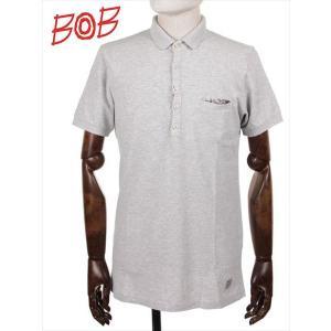 BOB COMPANY ボブカンパニー 鹿の子 半袖ポロシャツ ジャージ 206-34421 グレー 国内正規品|up-avanti