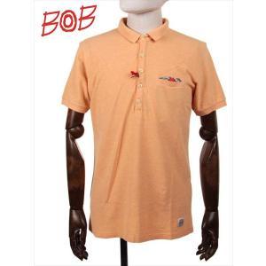 BOB COMPANY ボブカンパニー 鹿の子 半袖ポロシャツ ジャージ 206-34421 オレンジ 国内正規品|up-avanti