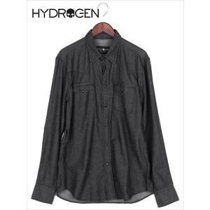 HYDROGEN ハイドロゲン ミリタリーデニム AVVOCATO シャツ ブラック 210-33859004 メンズ ウエスタンシャツ 国内正規品|up-avanti