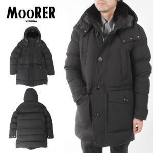 MooRER ムーレー ダウンコート FERDY フーディー パーカー 羊毛皮 ブラック ACQUAライン 212-21137-08 ブラック|up-avanti