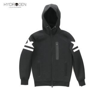HYDROGEN GOLF ハイドロゲン ゴルフ レディース メッシュ ブルゾン ジップアップパーカー フルジップフーディ 213-71440001 ブラック 国内正規品 up-avanti