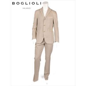 BOGLIOLI ボリオリ 3B セットアップ チノスーツ シングル ベージュ 220-21242 イタリア製 コットン ストレッチ 国内正規品 up-avanti