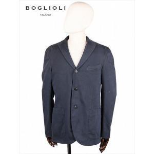 BOGLIOLI ボリオリ 3B シングルテーラード ジャケット ネイビー 220-21710 イタリア製 コットン 国内正規品 up-avanti