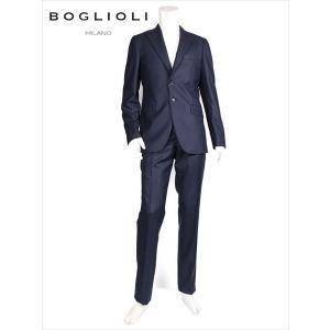 BOGLIOLI ボリオリ セットアップ スーツ 2B ストライプ ウール ネイビー 220-22215 Y62A2A SFORZA 国内正規品 up-avanti