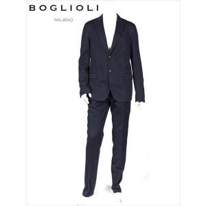 BOGLIOLI ボリオリ 2B シングル セットアップスーツ ネイビー 220-31222 イタリア製 コットン 国内正規品 up-avanti