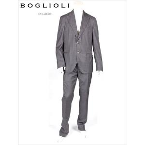 BOGLIOLI ボリオリ 2B ストライプ セットアップスーツ グレー サマーウール 220-31239 イタリア製 国内正規品 up-avanti