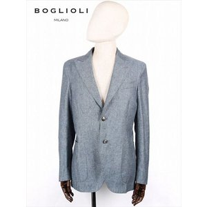 BOGLIOLI ボリオリ 2B シングルテーラード ジャケット ネイビー 220-31706 イタリア製 シルク 麻 国内正規品 up-avanti