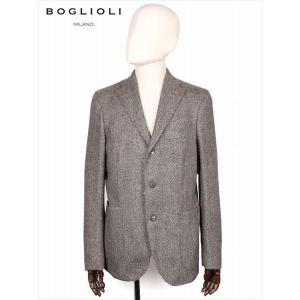 BOGLIOLI ボリオリ ヘリンボーン柄 3B シングルテーラード ジャケット ブラウン 220-41721 イタリア製 ウール 国内正規品 up-avanti