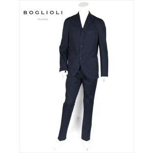 BOGLIOLI ボリオリ 3B ストレッチ コットン セットアップ スーツ ネイビー 220-51249 イタリア製 国内正規品 up-avanti