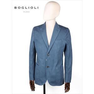 BOGLIOLI ボリオリ 2B シングルテーラードジャケット ブルー 220-52715 シアサッカー イタリア製 国内正規品 up-avanti