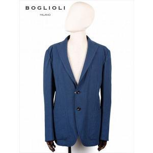 BOGLIOLI ボリオリ 格子柄 2B シングルテーラード ジャケット ネイビー 222-12700 イタリア製 コットン 国内正規品 up-avanti