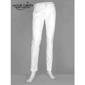 JACOB COHEN ヤコブコーエン ストレッチチノパンツ ウォッシュ ホワイト 226-55185 LION COMF ハラコパッチ 国内正規品 up-avanti