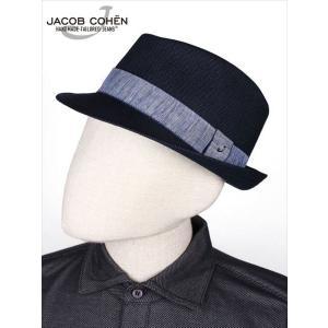 JACOB COHEN ヤコブコーエン チロリアンハット 中折れ帽 ネイビー 226-58802 国内正規品 up-avanti