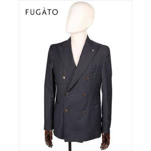FUGATO フガート 6B ダブルブレスト テーラードジャケット 無地 ブラック 243-31701-78 イタリア製 てんとう虫 国内正規品 up-avanti