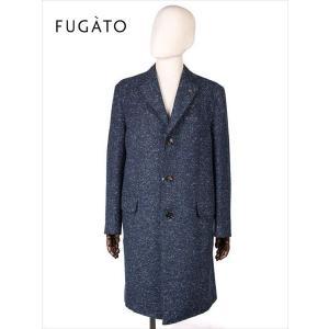 FUGATO フガート 3B ウール シングルコート  杢ネイビー 243-41104 イタリア製 てんとう虫 国内正規品 up-avanti