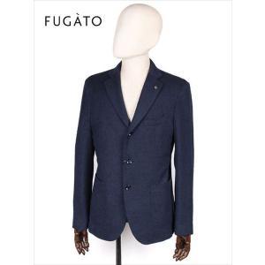 FUGATO フガート 3B ウール シングルテーラードジャケット ツイル ネイビー 243-41711 イタリア製 てんとう虫 国内正規品 up-avanti