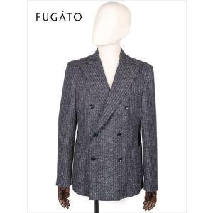 FUGATO フガート 6B ウール ダブルブレスト 杢ストライプ ネイビー 243-41713 イタリア製 てんとう虫 国内正規品 up-avanti