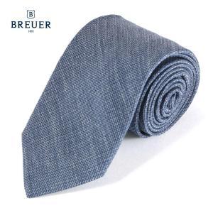 BREUER ブリューワー シルク ネクタイ イタリア製 277-18010 ネイビー 国内正規品|up-avanti
